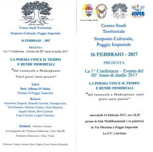 Poesia Conferenza Evento 16 febb 2017
